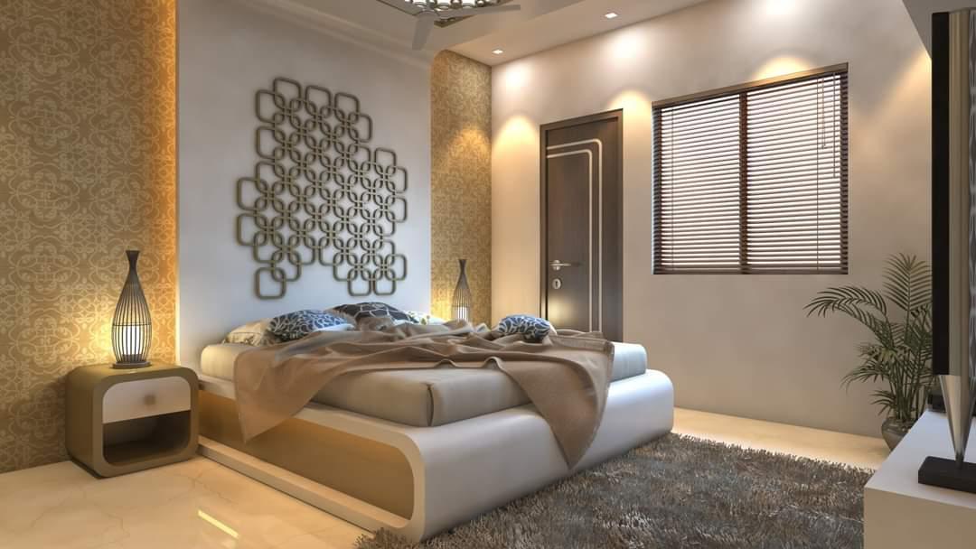 Wood and white interior decor